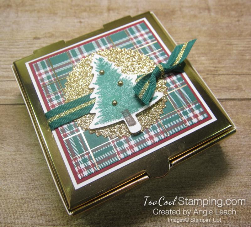 Mini pizza boxes - festive