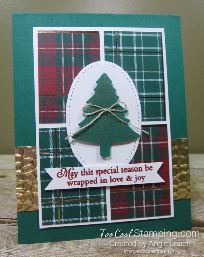 Perfectly plaid quarter DSP - spruce 1