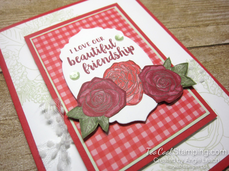 4 christmastime is here - stamped background poppy 2