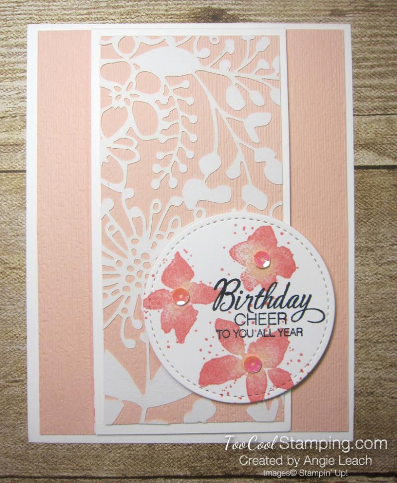Parcels & petals shimmer flap cards - petal 1