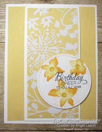 Parcels & petals shimmer flap cards - saffron 1