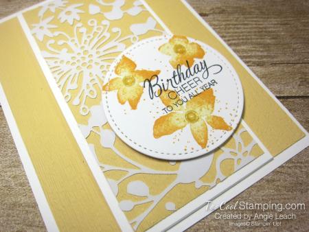 Parcels & petals shimmer flap cards - saffron 2