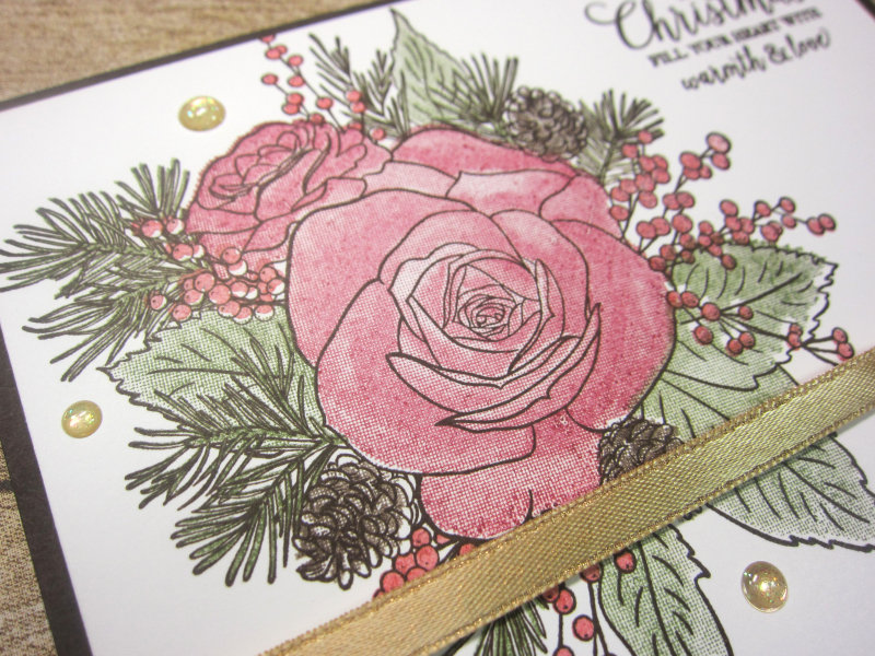 12 christmastime is here - one layer stamp off 3