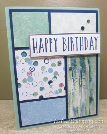 Perennial Birthday DSP blocks - tranquil textures 1