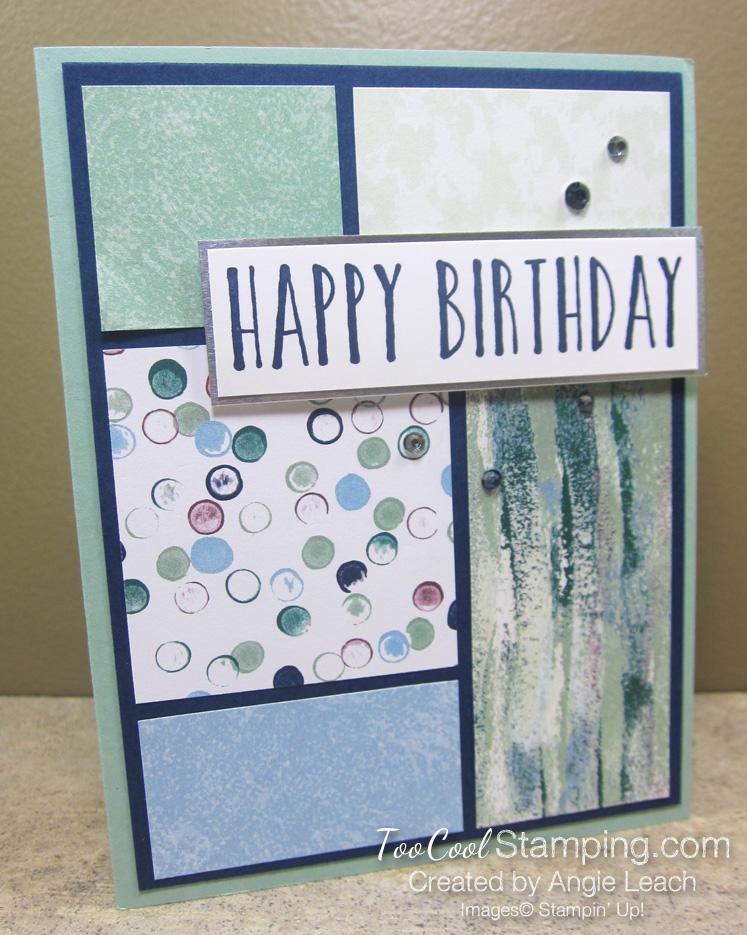 Perennial Birthday DSP blocks - tranquil textures 1