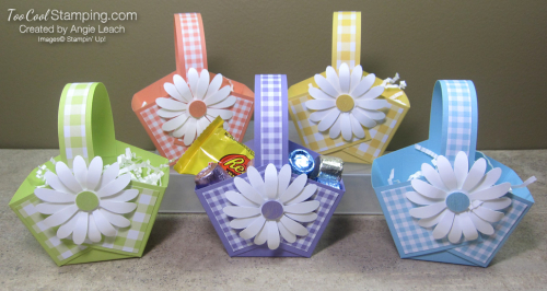 Gingham gala easter baskets - 5 cool