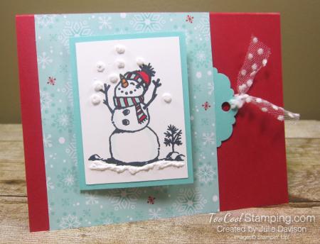 Snowman season flip card 1
