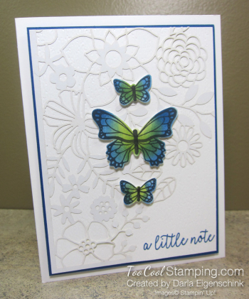 Butterfly Gala Delightfully Detailed Note - darla