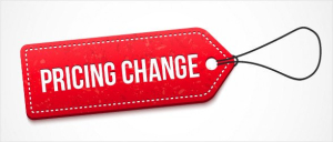 Pricing change