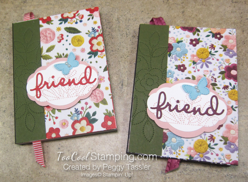 Friend Needlepoint Notebook - two cool