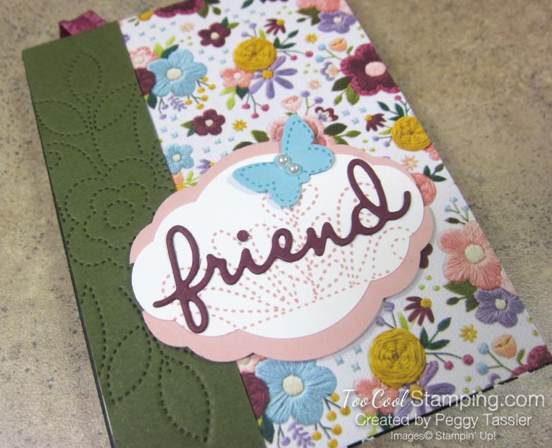 Friend Needlepoint Notebook - razzleberry