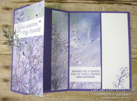Frosted foliage 3 panel - grape berries 3
