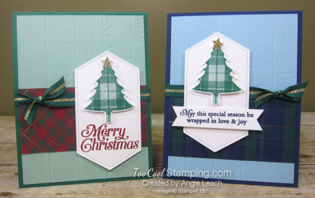Perfectly plaid expo cards - two cool