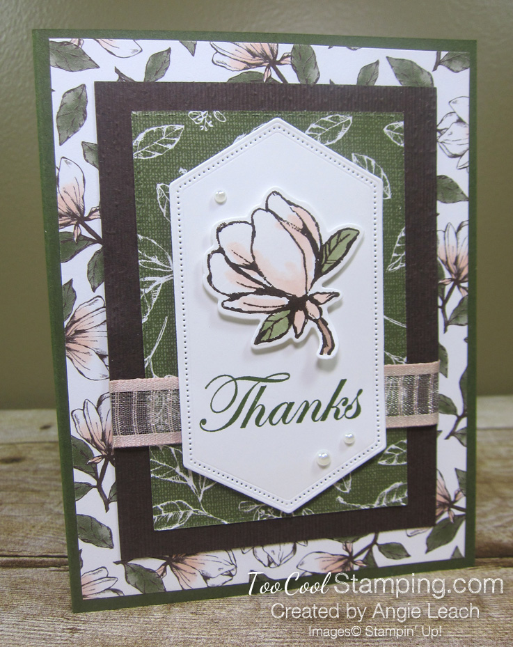 Magnolia lane rectangle layers cards - mossy