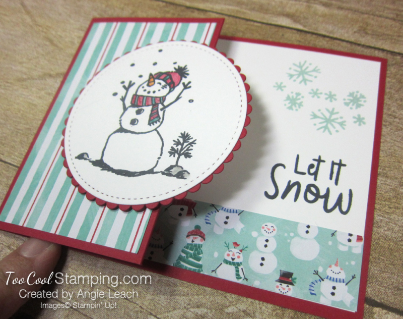 Let it snow gift card holder - red 2