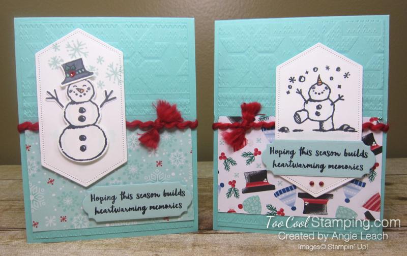 Snowman season heartwarming - two cool