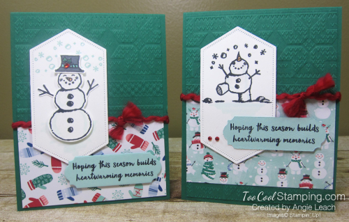 Snowman season heartwarming - two cool 2