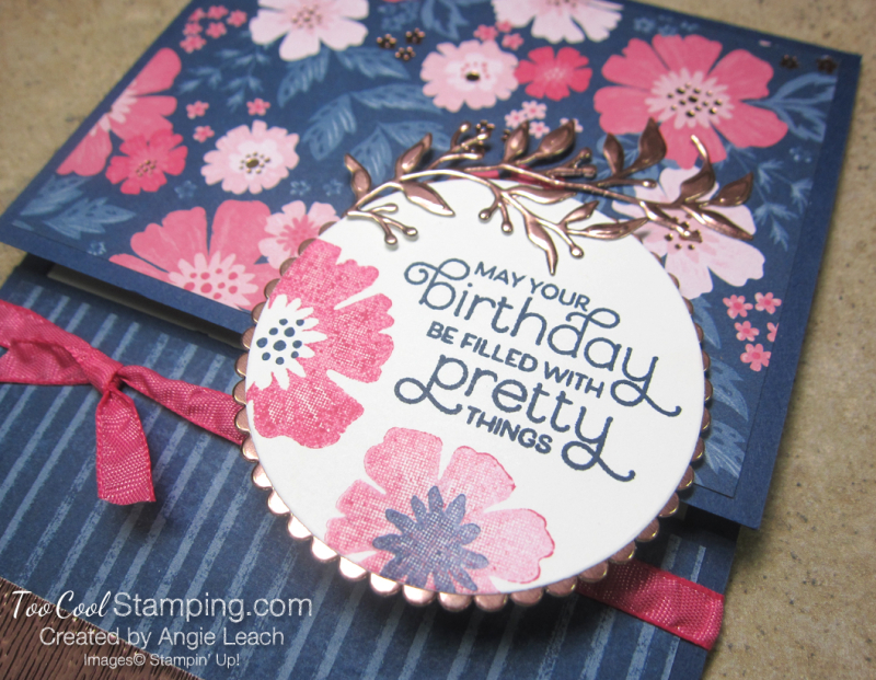 Everything Is Rosy Pull-Up Gift Card Holder - navy floral 3