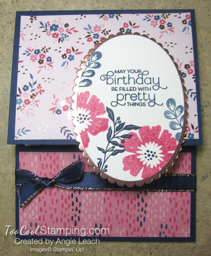 Everything Is Rosy Pull-Up Gift Card Holder - pink floral 1