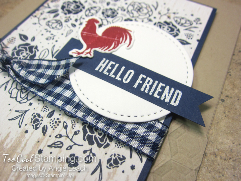 Wood Words hello friend - rooster 3