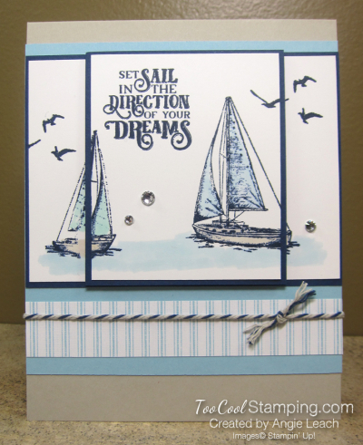 Two Layer Stamping - sailing home 1