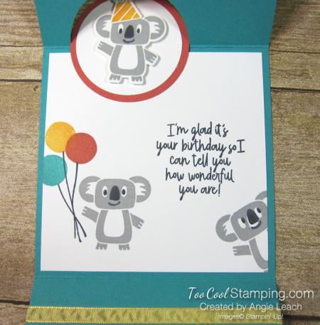 Birthday bonanza circle fold - koala 5