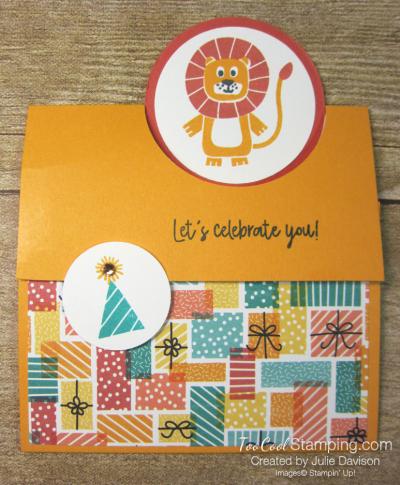 Birthday bonanza circle fold - lion 1