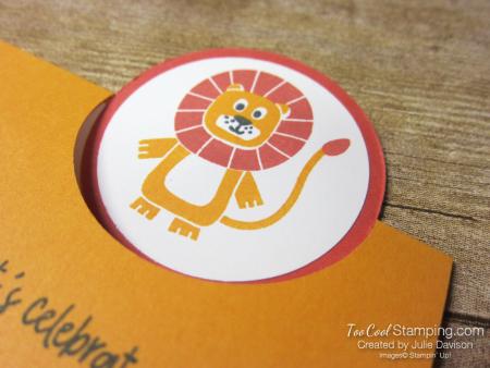 Birthday bonanza circle fold - lion 3