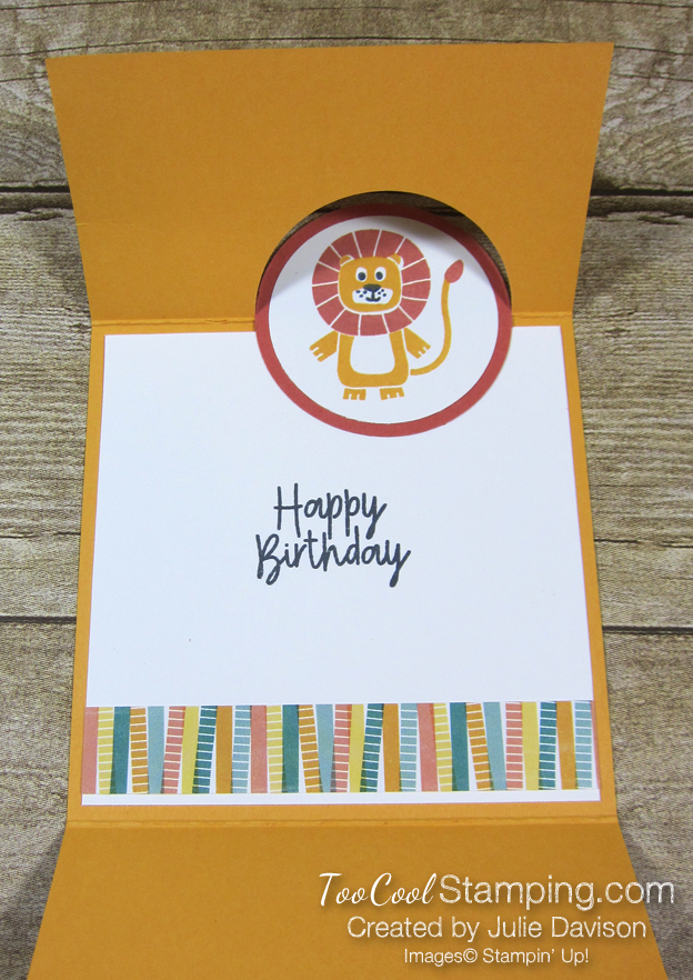 Birthday bonanza circle fold - lion 4