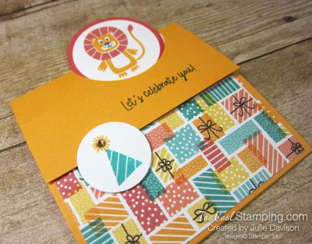 Birthday bonanza circle fold - lion 2