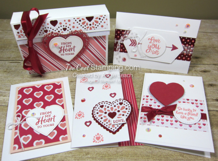 From The Heart Valentine 4 Card Gift Box
