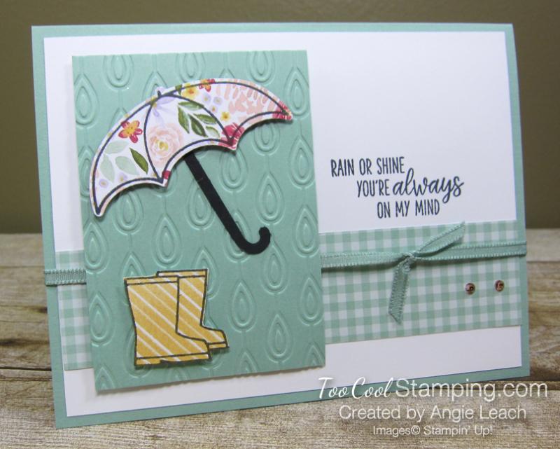 Under my umbrella floral - mint 1