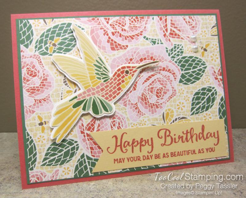 Mosaic mood birthday - rose 1