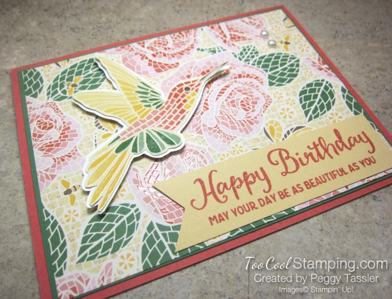 Mosaic mood birthday - rose 2