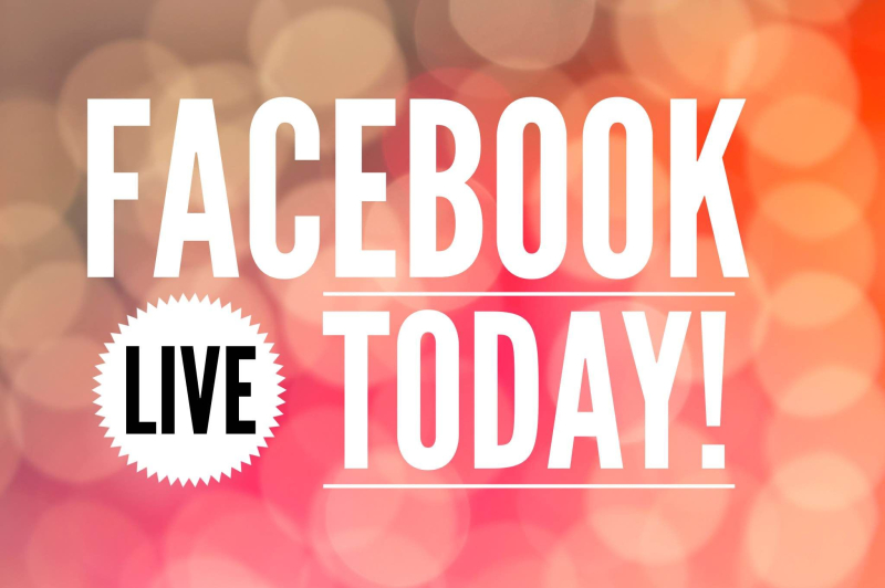 Facebook LIVE today