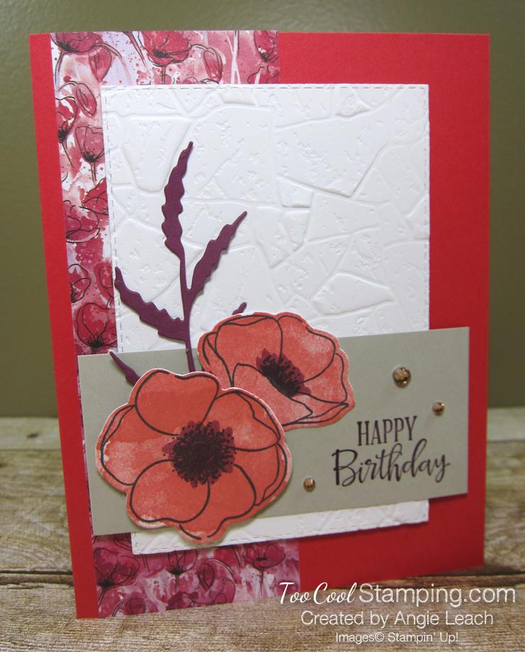 Peaceful poppies stone - poppy