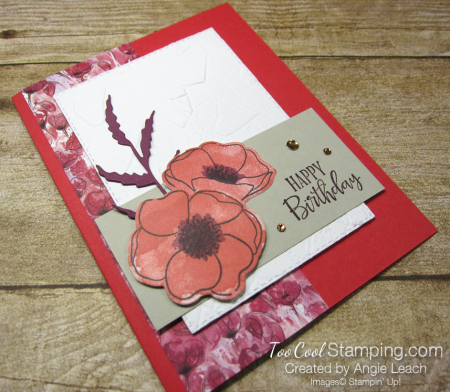 Peaceful poppies stone - poppy 2