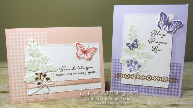 Positive Thoughts gingham copper - two cool