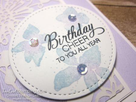 Parcels & petals shimmer flap cards - posy 3