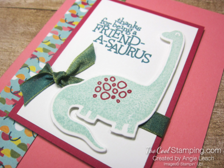 Dino days easy cards for kids - flirty 2
