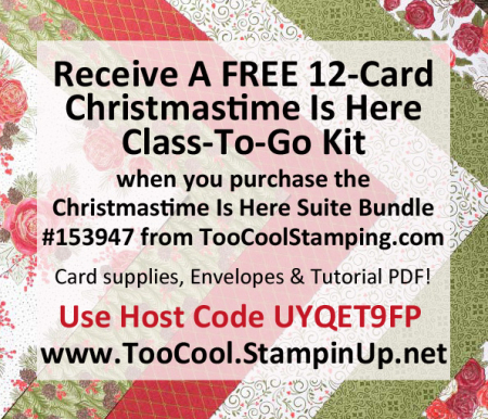 Christmastime Is Here Card Kit Banner