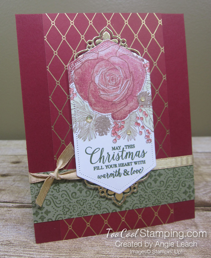 8 christmastime is here - nested label stamp off
