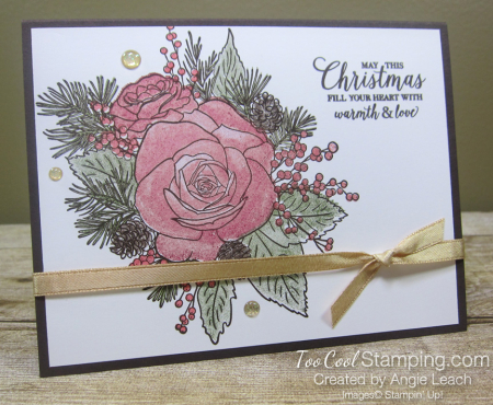 12 christmastime is here - one layer stamp off