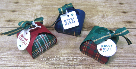 Wrapped in plaid curvy keepsakes box - trio