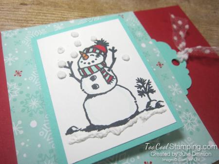 Snowman season flip card 2