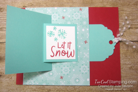 Snowman season flip card 3