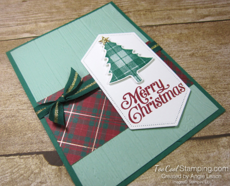 Perfectly plaid expo cards - merry christmas 2