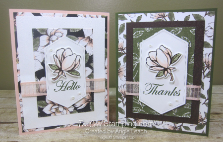 Magnolia lane rectangle layers cards - two cool