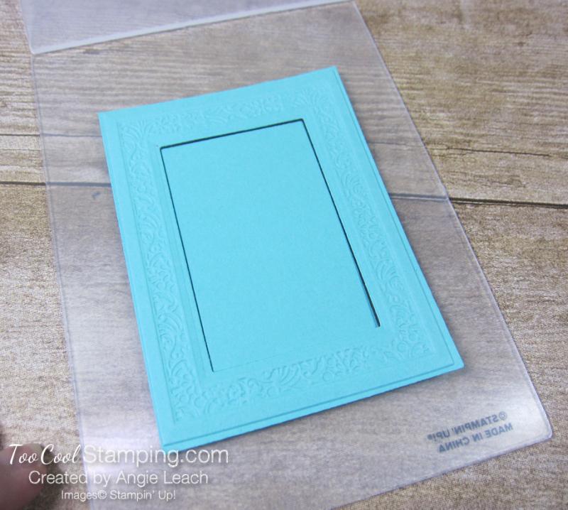 Woven Heirloom Embossing Folder Tip 2