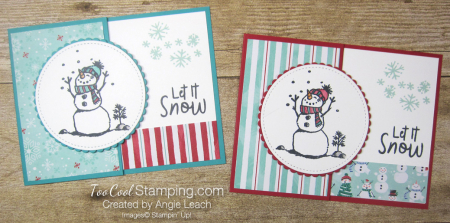Let it snow gift card holder - two cool